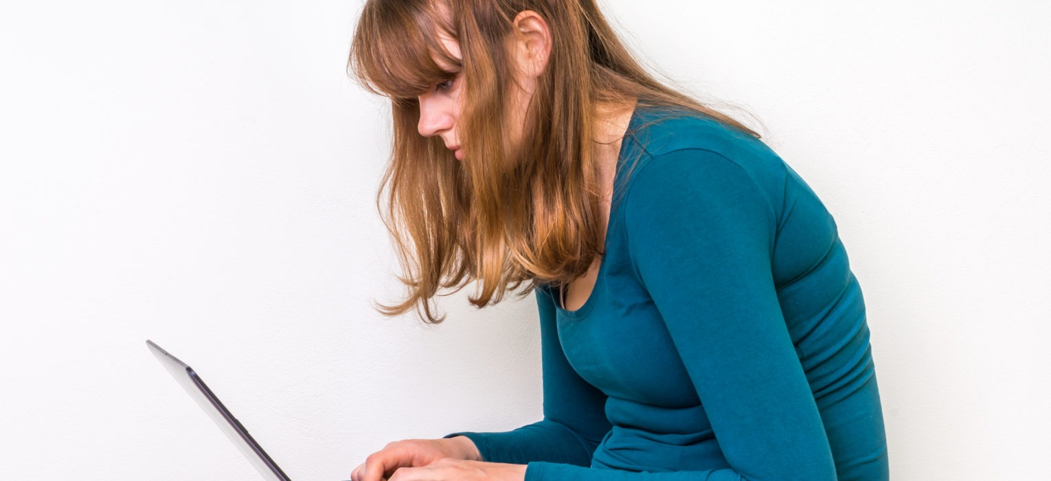 Bad posture working from home